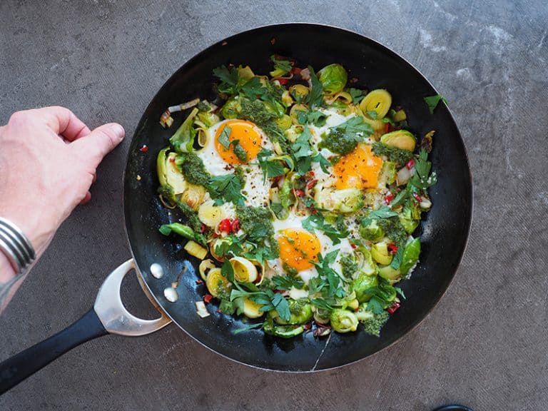 Buttery Leeks With Eggs