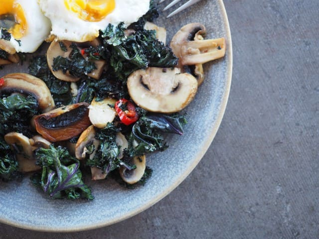 Purple Kale & Eggs